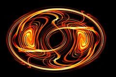 Płomienie, pali ogienia Odizolowywający na czarny tle ilustracji