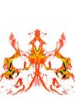 Płomienie, pali ogienia pojedynczy białe tło ilustracja wektor