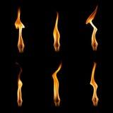 Płomienie ustawiający Fotografia Royalty Free