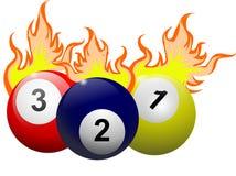 Płomienna Billiards piłka Fotografia Stock