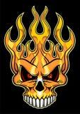 Płomienna czaszka Zdjęcia Royalty Free