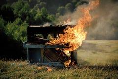 Płomienna muzyka, pianino zdjęcia royalty free