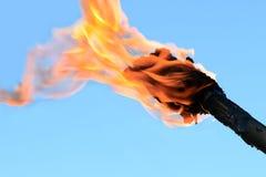 płomienna pochodnia fotografia stock