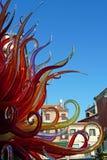 Płomienna Szklana rzeźba fotografia stock