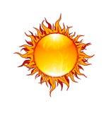 płomienny słońce Obrazy Royalty Free