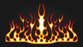Płonąć pożarniczych decals dla kapiszonu samochód płonie gorącego bieżnego prącie Winylowi przygotowywający plemienni płomienie P ilustracja wektor