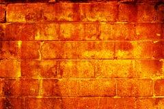 płonąca ściany Obraz Stock