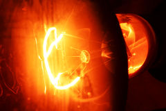 płonąca światła Zdjęcia Royalty Free