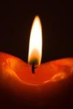 płonąca świece czerwony Obrazy Royalty Free