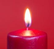 płonąca świece czerwony Fotografia Royalty Free