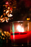 Płonąca świeczka zdjęcia stock