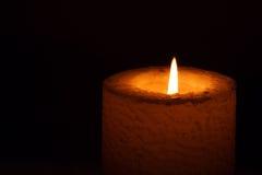 płonąca świeczka Zdjęcie Stock