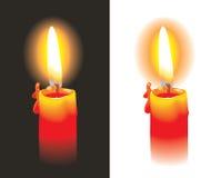 płonąca świeczka Obrazy Royalty Free