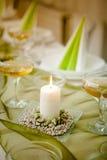 Ślubna świeczka Obrazy Royalty Free