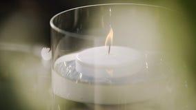 Płonąca świeczka w dnia czasie zbiory