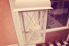 Płonąca świeczka w pudełku fotografia royalty free