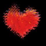 płonąca 2 miłości Zdjęcie Royalty Free