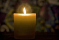 płonąca candle obraz royalty free