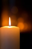 płonąca candle Zdjęcie Stock