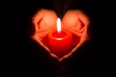 płonąca candle obrazy stock
