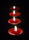 płonąca candle Zdjęcia Royalty Free