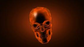 Płonąca czaszka. Alfy skołtuniony wideo ilustracji