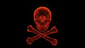 Płonąca czaszka i crossbones ilustracja wektor