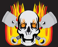płonąca czaszki Obraz Stock