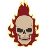 płonąca czaszki Zdjęcia Royalty Free