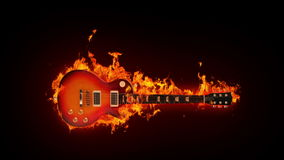 Płonąca gitara ilustracji