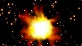 płonąca gwiazda zdjęcie wideo