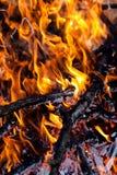płonąca kominek Zdjęcie Stock