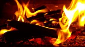 płonąca kominek zbiory