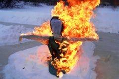 Płonąca lali zima Zdjęcie Royalty Free