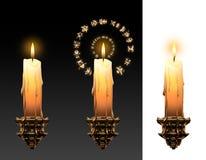 płonąca magiczna świeczka Zdjęcia Royalty Free