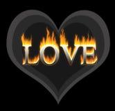 płonąca miłość Obrazy Stock