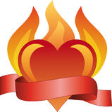 płonąca miłości Fotografia Stock