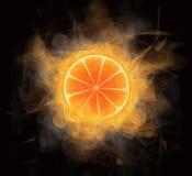 płonąca pomarańcze Fotografia Royalty Free