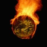 Płonąca ziemia Fotografia Stock