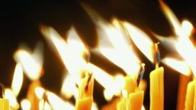 płonące świece zdjęcie wideo