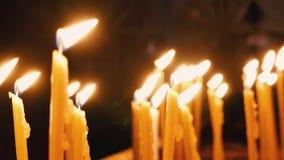 płonące świece zbiory wideo