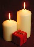 płonące świece. fotografia stock