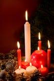 płonące świece. Zdjęcie Stock