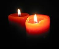 płonące świece. Obraz Stock
