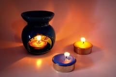 płonące świece Fotografia Royalty Free