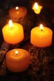 płonące świece Zdjęcie Stock