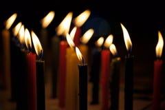 płonące świece Obrazy Stock