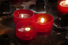płonące świece obraz stock