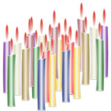 płonące świeczki Zdjęcie Royalty Free