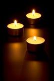 płonące świeczki trzy Obraz Stock